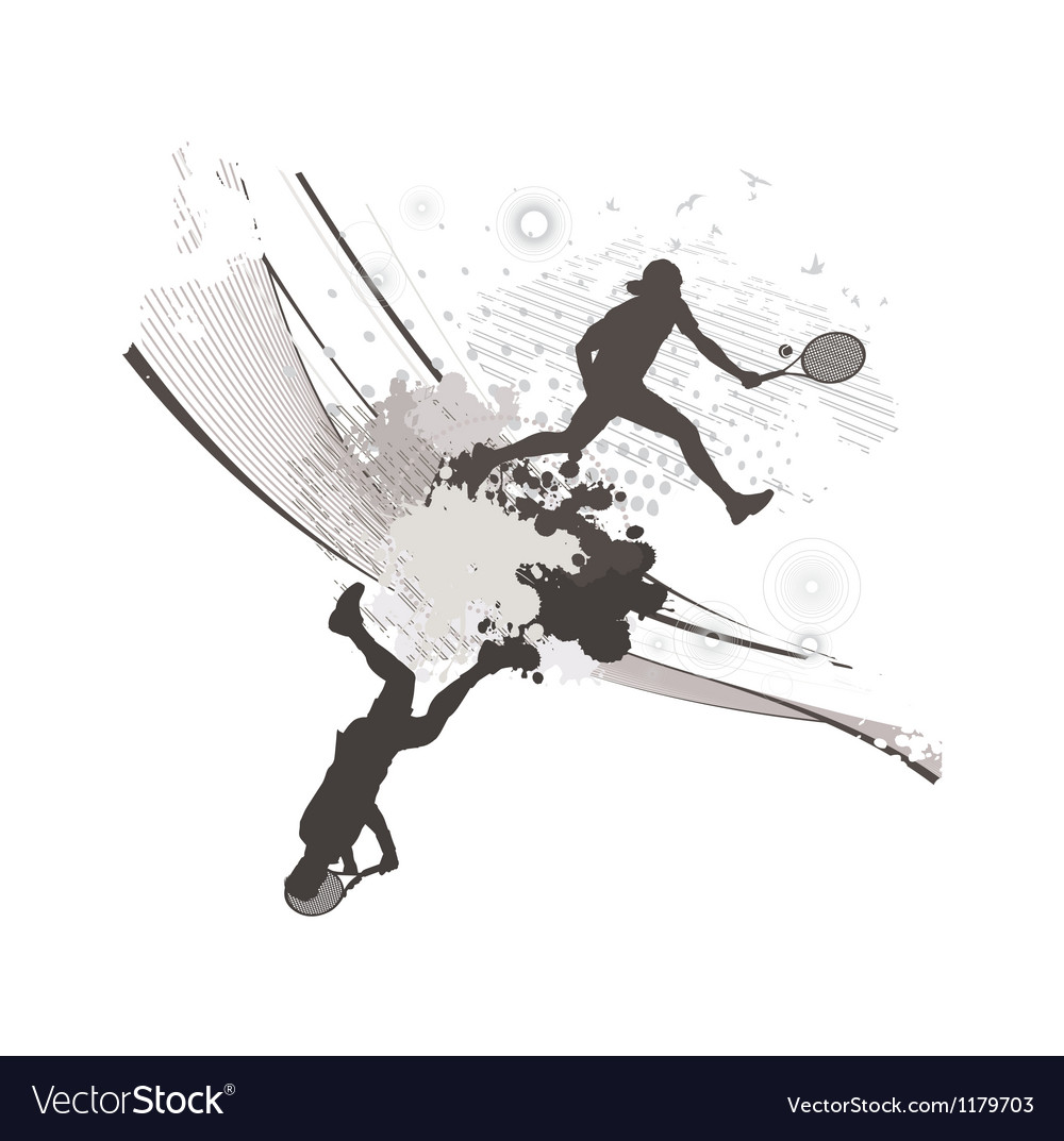 Abstract blot tennis background vector | Price: 1 Credit (USD $1)