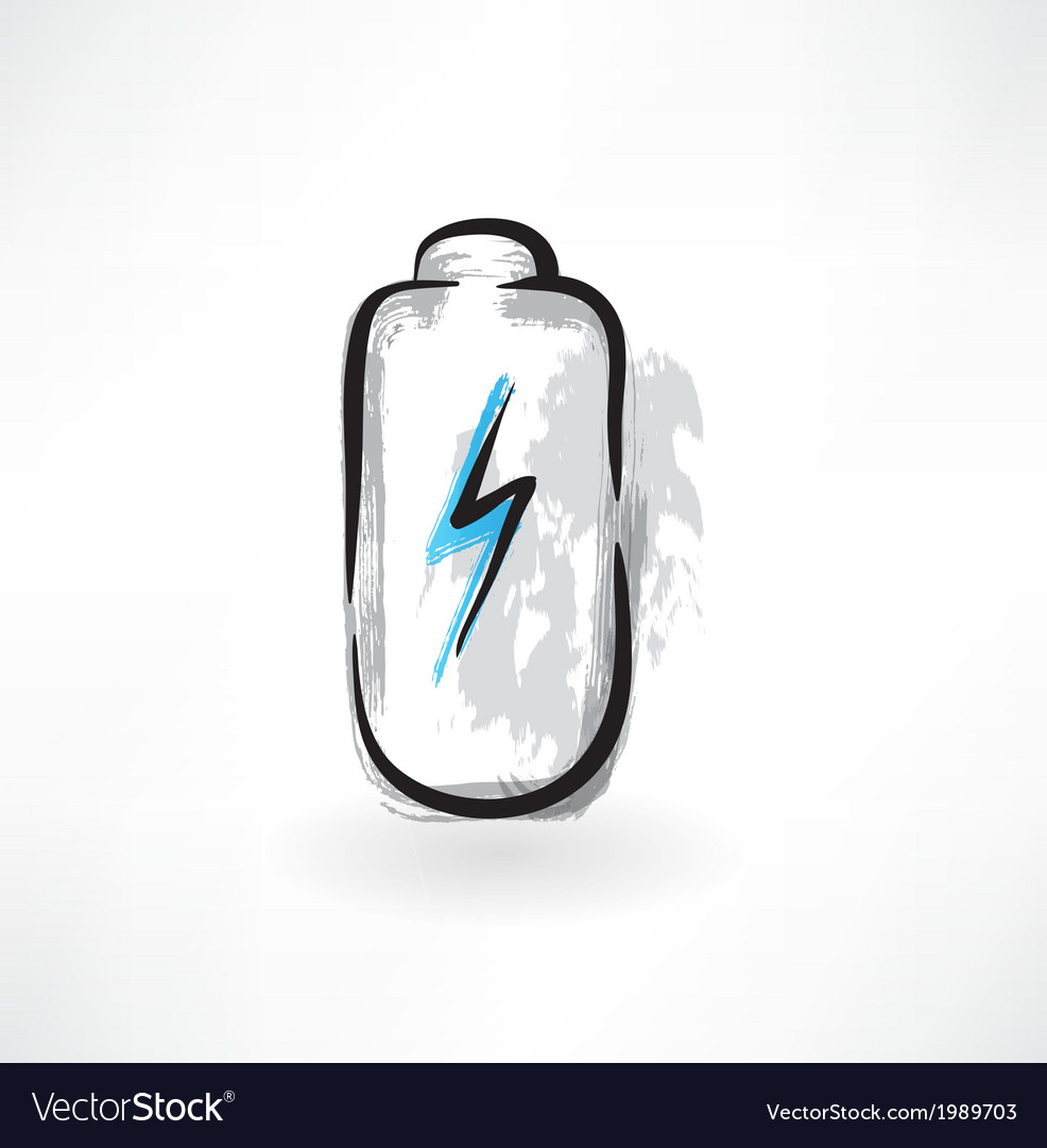 Battery grunge icon vector | Price: 1 Credit (USD $1)