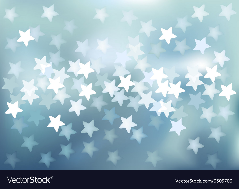 Blue festive lights in star shape background vector | Price: 1 Credit (USD $1)