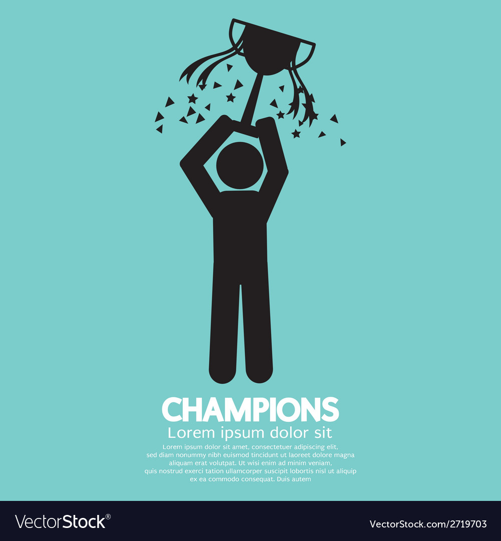 Champions graphic sign vector | Price: 1 Credit (USD $1)
