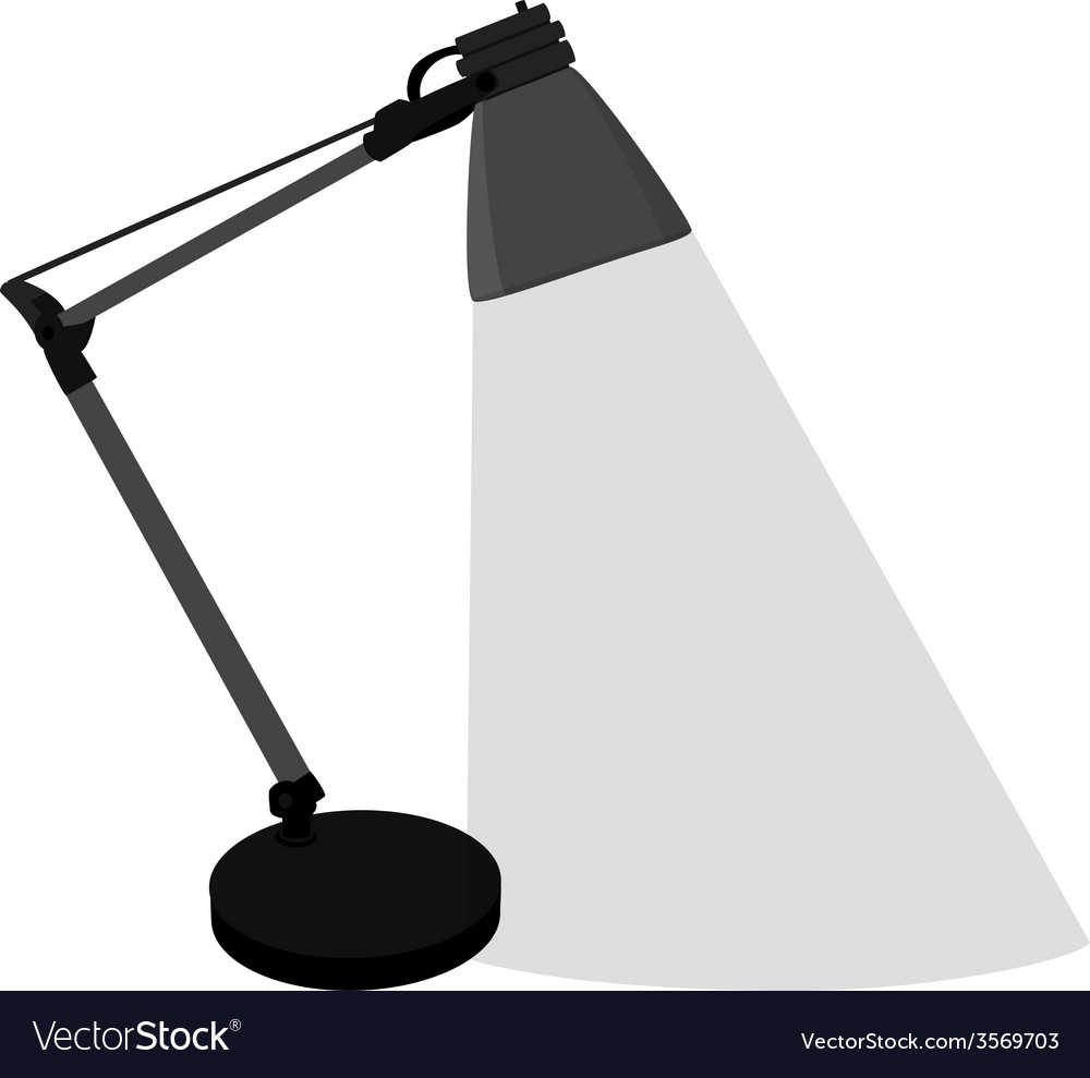 Grey table lamp vector | Price: 1 Credit (USD $1)