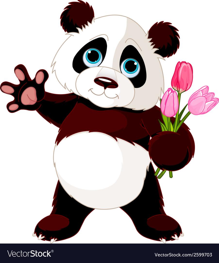 Happy panda vector | Price: 1 Credit (USD $1)