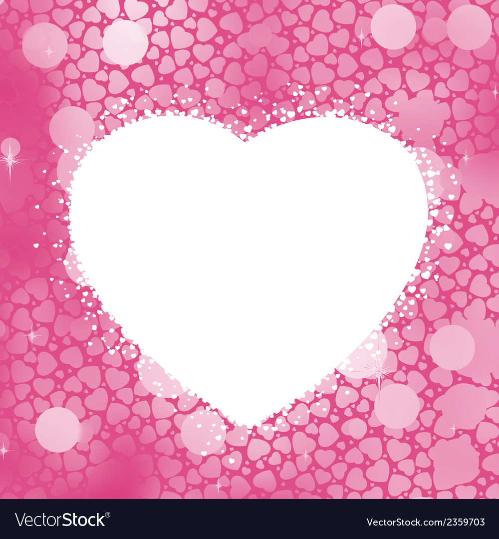 Pastel heart bokeh frame with copy space eps 8 vector | Price: 1 Credit (USD $1)
