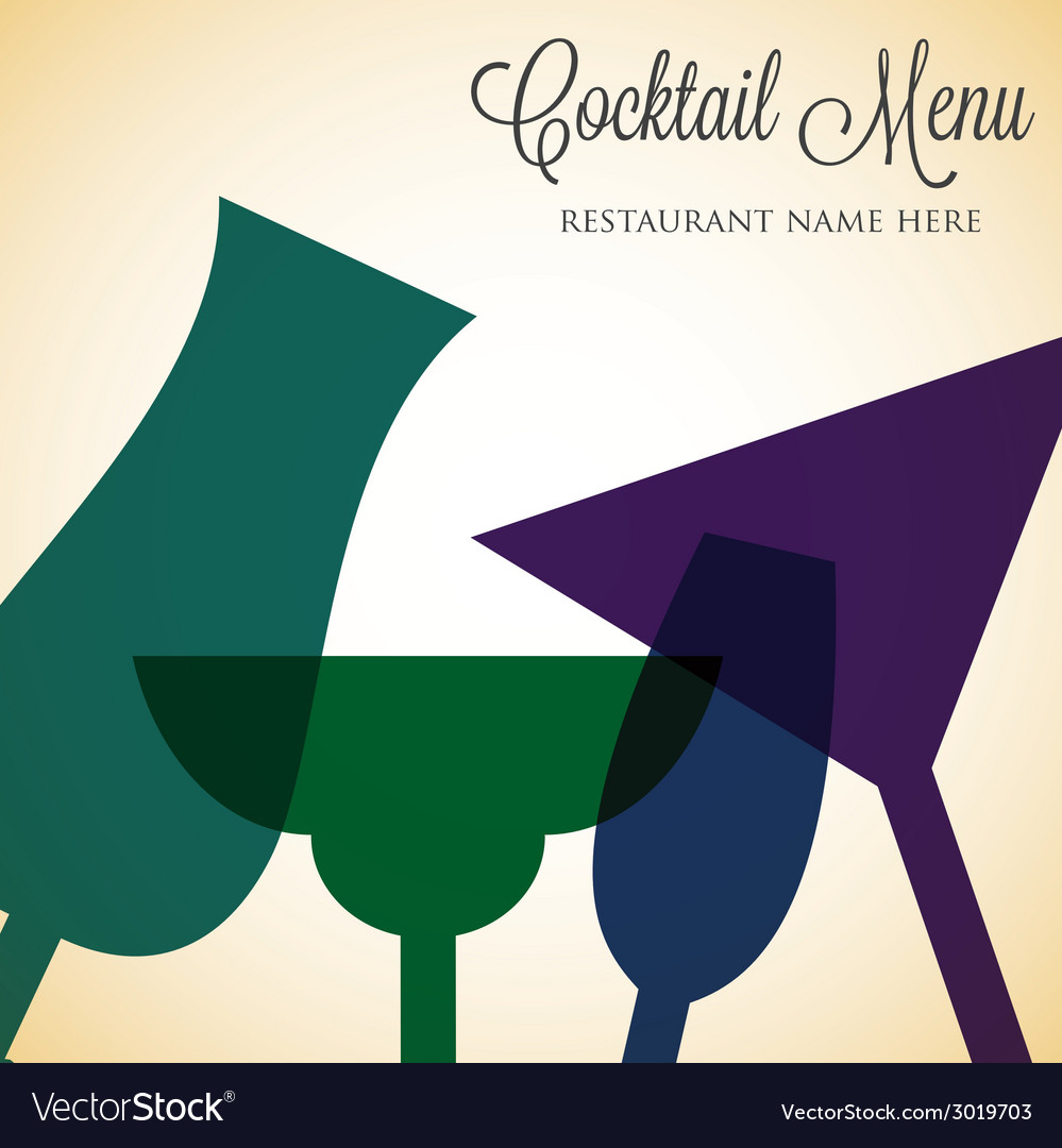 Retro overlay cocktail card in format vector | Price: 1 Credit (USD $1)