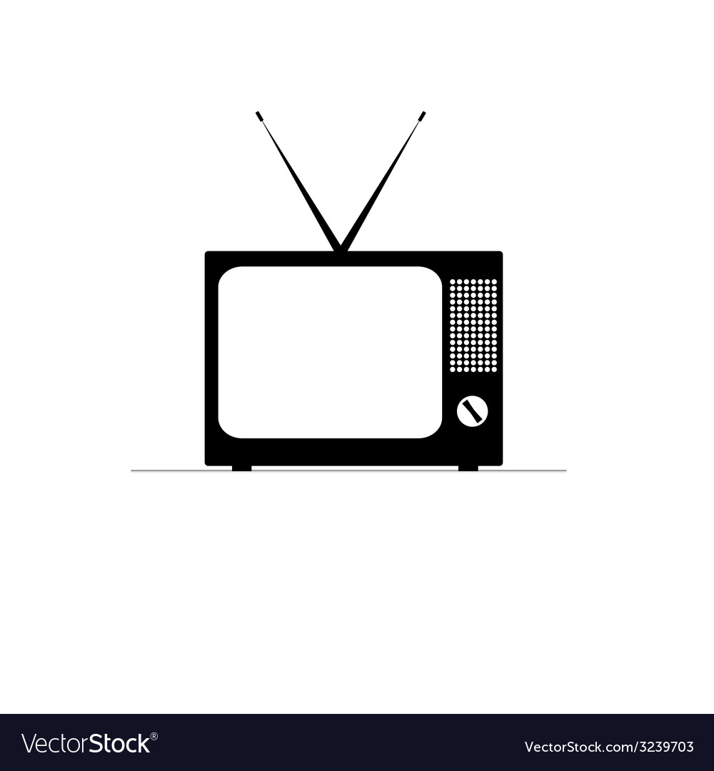 Retro tv icon vector | Price: 1 Credit (USD $1)