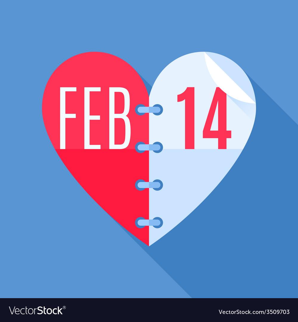 Valentines day calendar vector