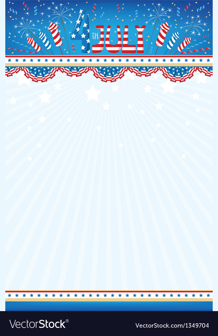 4th july background vector | Price: 1 Credit (USD $1)