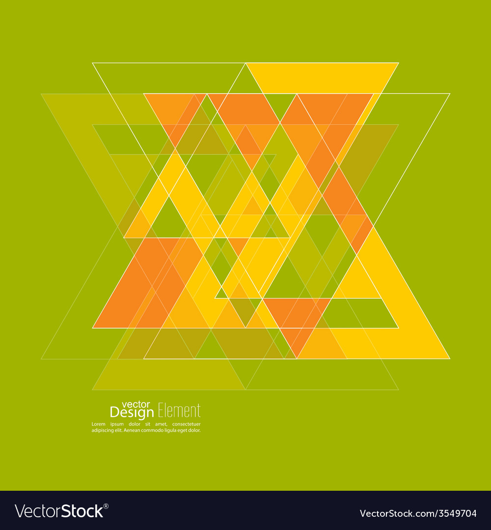 Abstract background with triangles vector   Price: 1 Credit (USD $1)