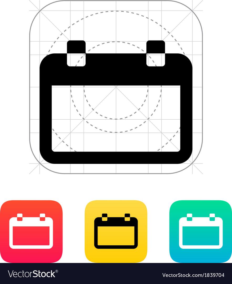 Blank calendar icon vector | Price: 1 Credit (USD $1)