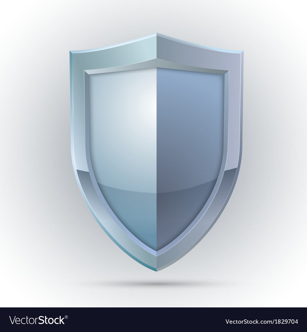 Blank shield protection emblem vector | Price: 1 Credit (USD $1)