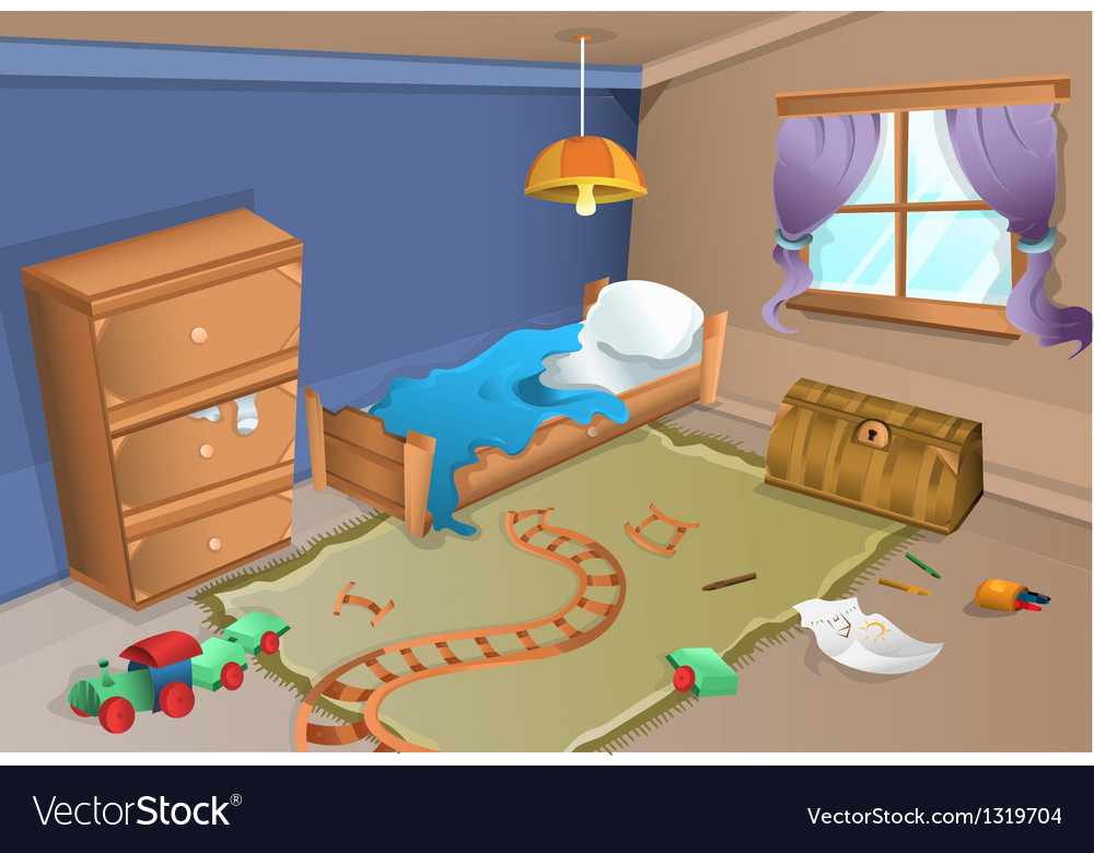 Child bedroom vector | Price: 1 Credit (USD $1)