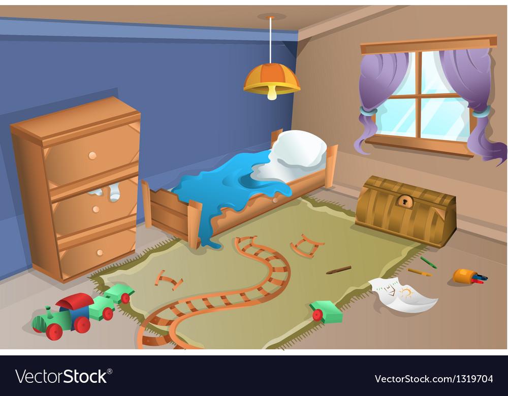 Child bedroom vector | Price: 1 Credit (USD $1)