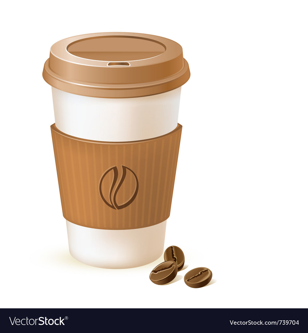 Coffee paper cup vector | Price: 1 Credit (USD $1)