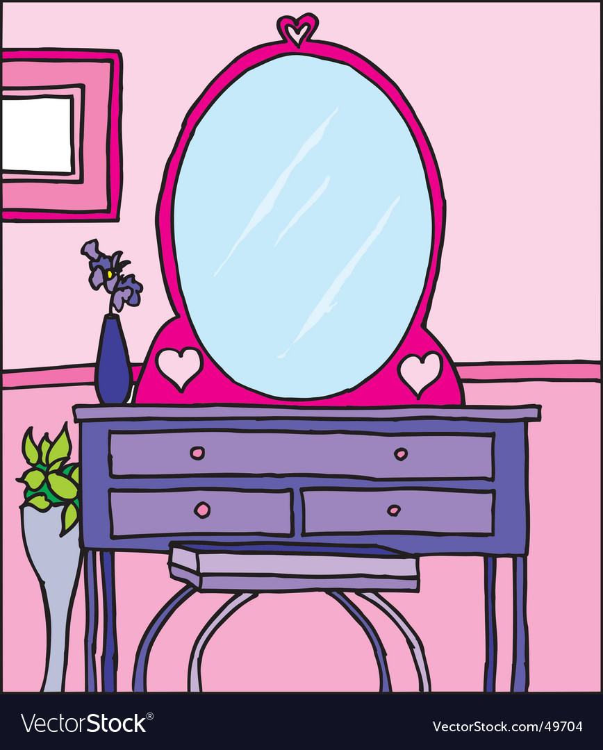 Girls room dresser vector | Price: 1 Credit (USD $1)