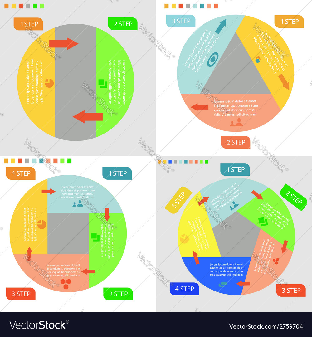 Info graphic business circles vector | Price: 1 Credit (USD $1)