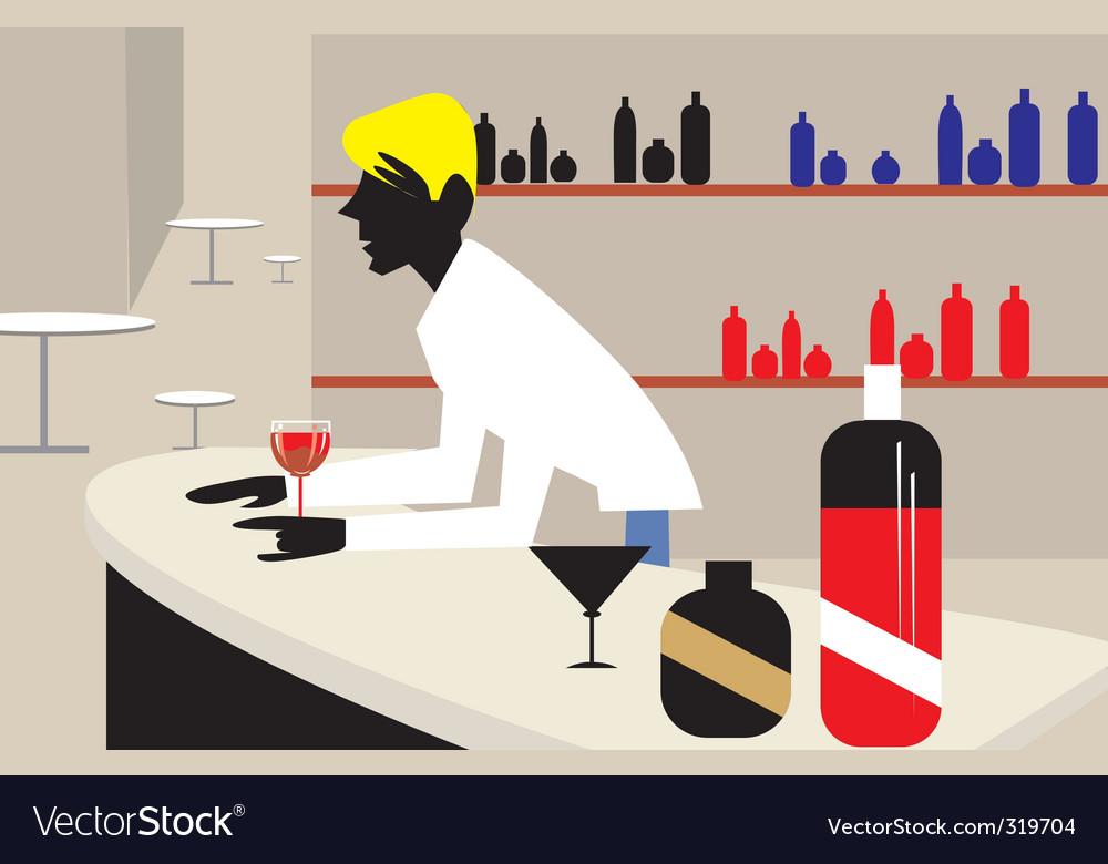 Man and bar vector   Price: 1 Credit (USD $1)
