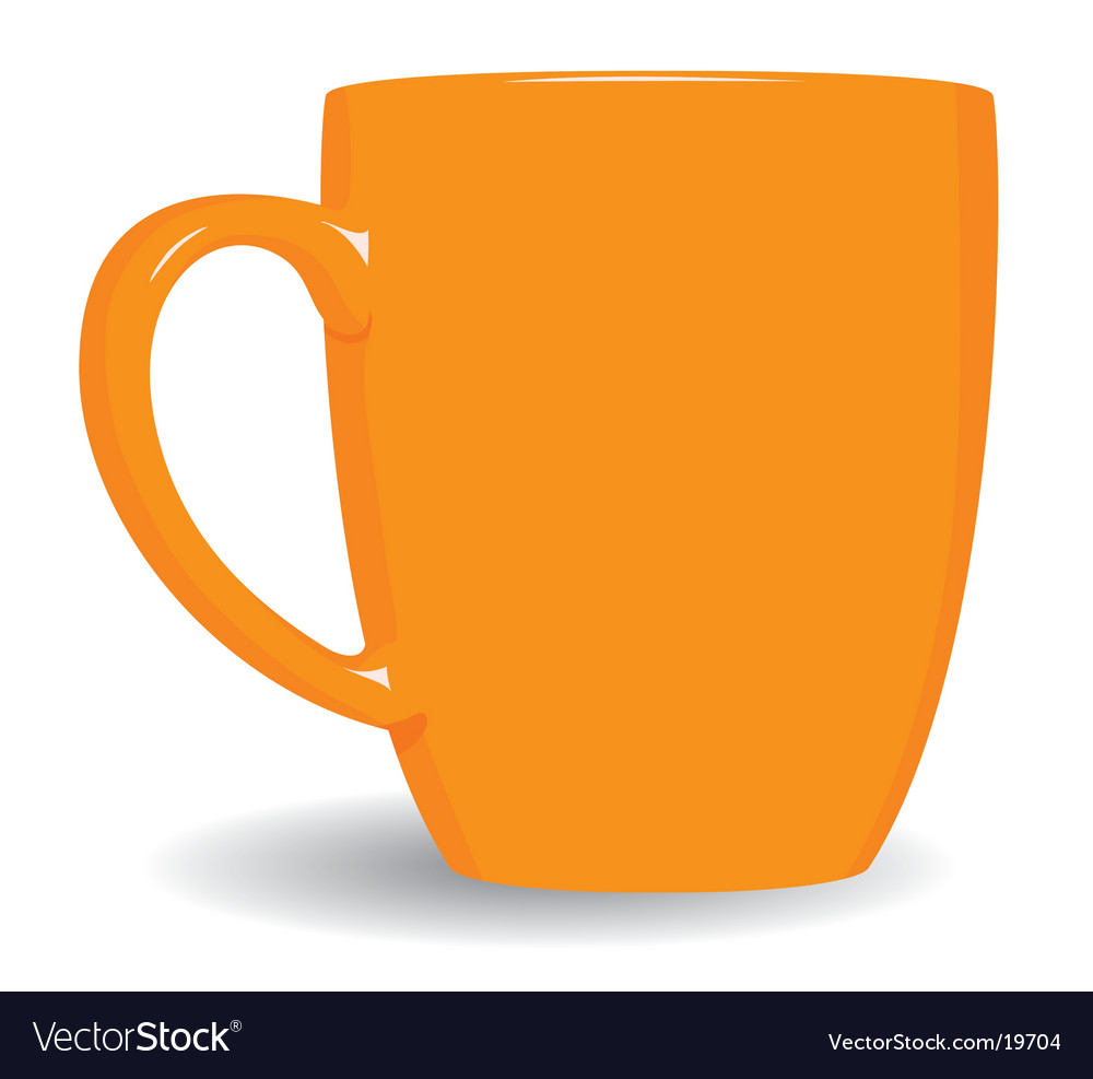 Orange mug on white background vector | Price: 1 Credit (USD $1)