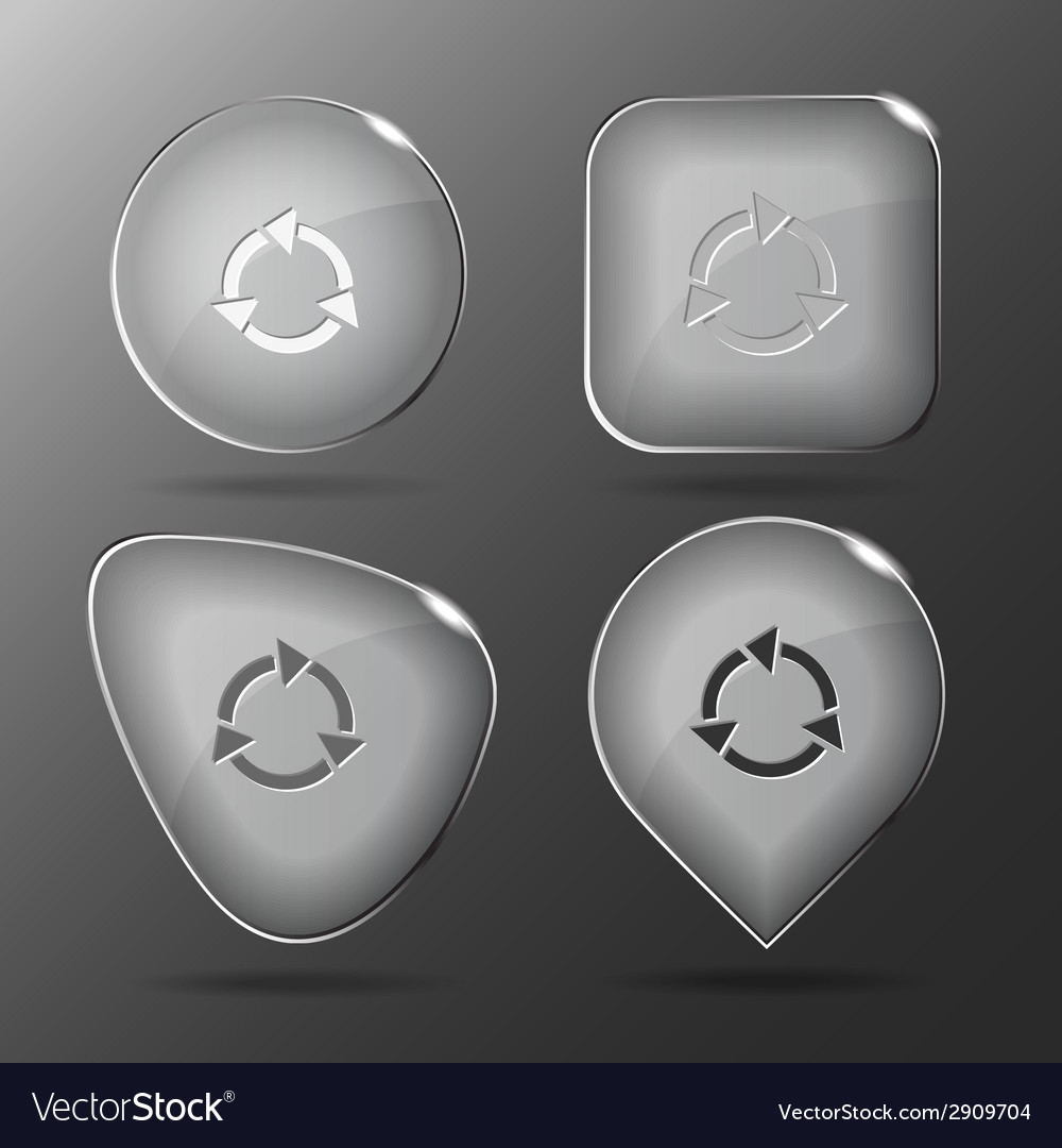 Recycle symbol glass buttons vector | Price: 1 Credit (USD $1)