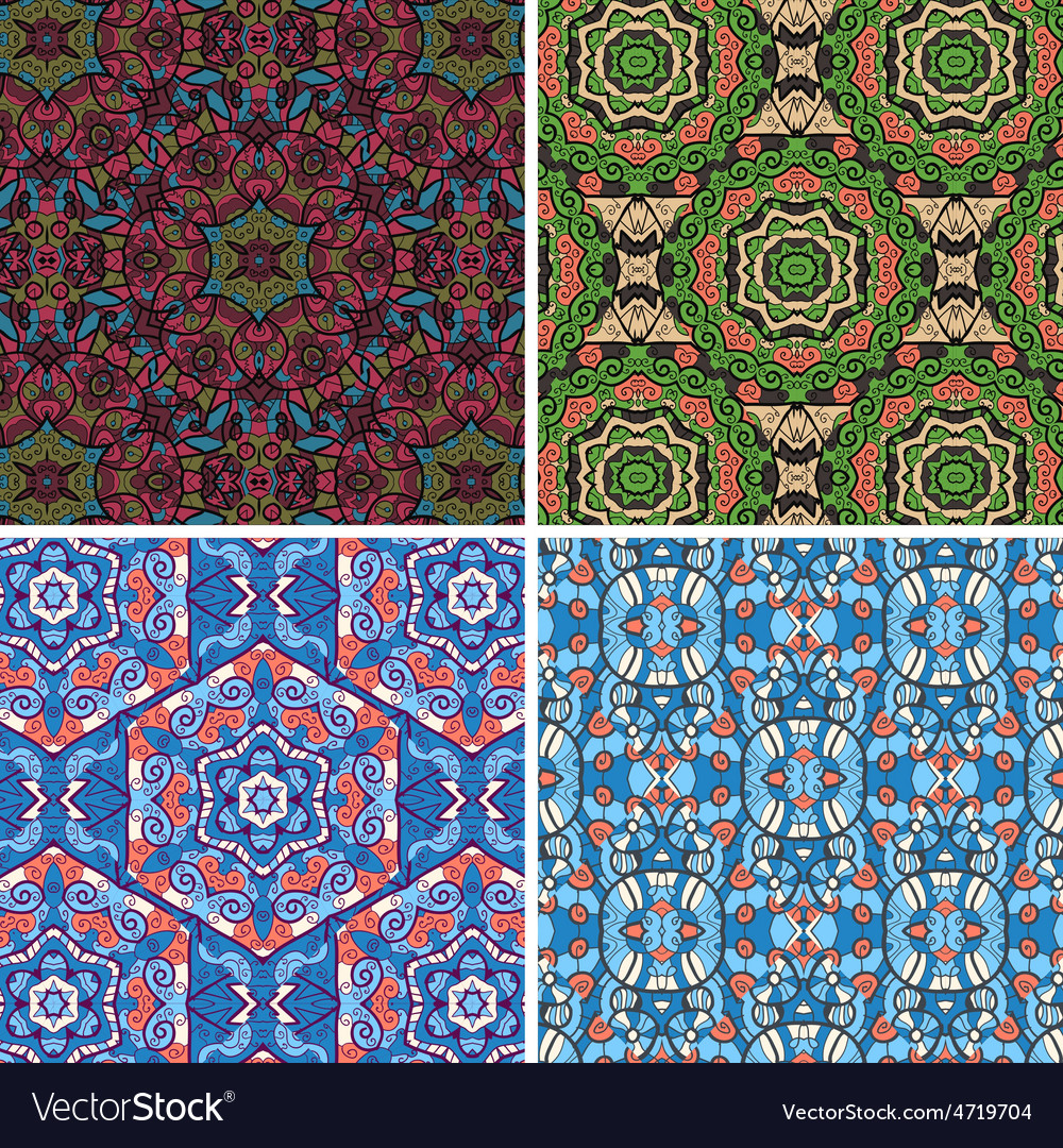 Seamless pattern in blue and green colors vector | Price: 1 Credit (USD $1)
