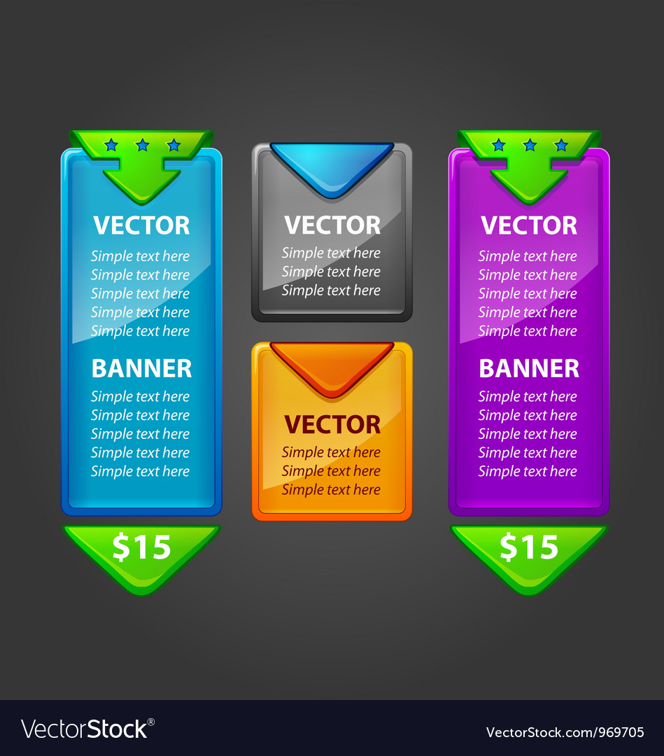 Banner set for sale or download vector | Price: 3 Credit (USD $3)