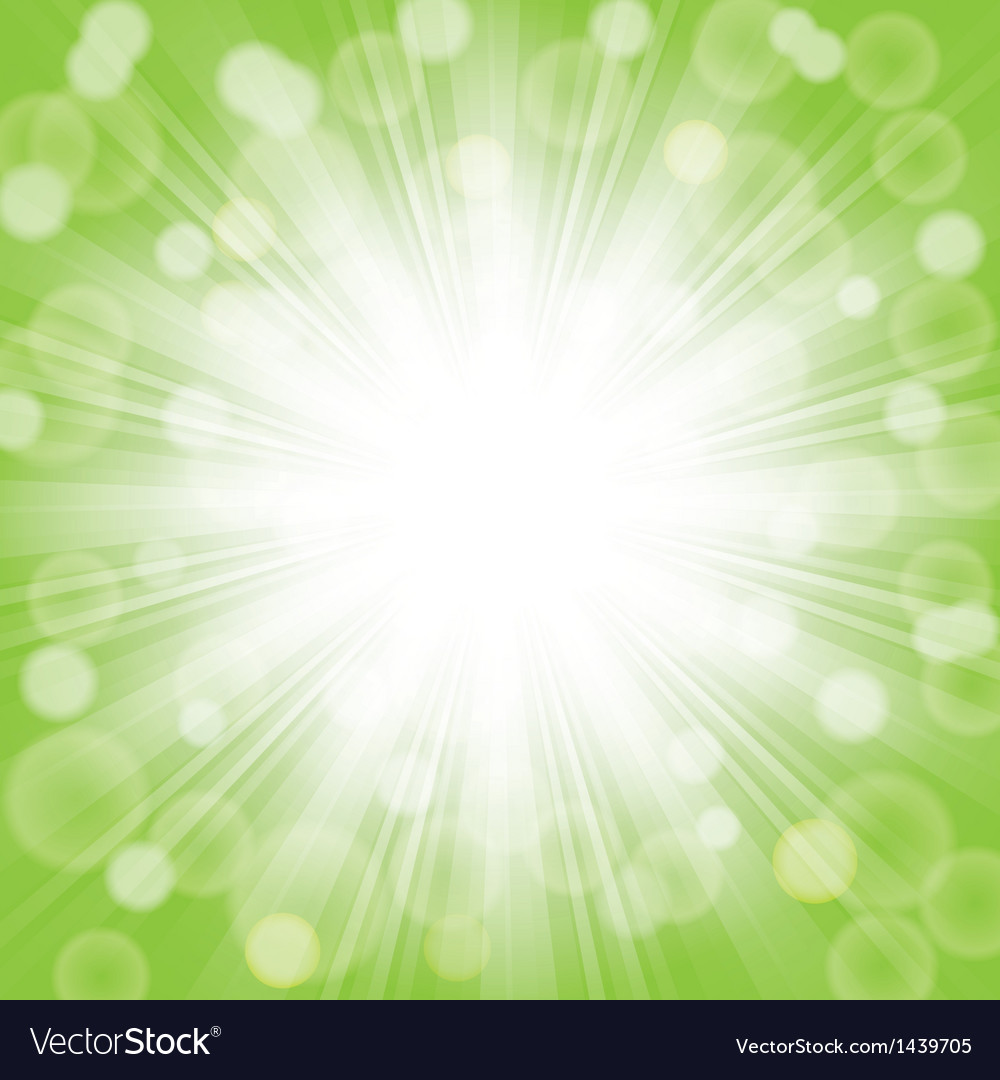 Green sunlight vector | Price: 1 Credit (USD $1)