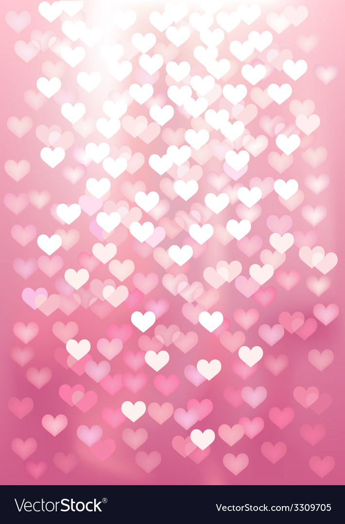 Pink festive lights in heart shape background vector | Price: 1 Credit (USD $1)