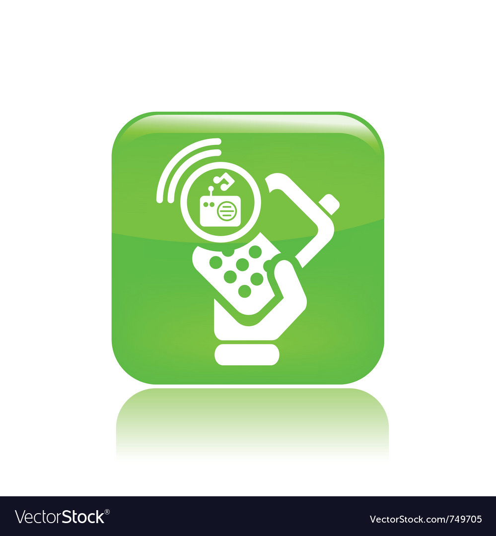 Radio phone icon vector | Price: 1 Credit (USD $1)