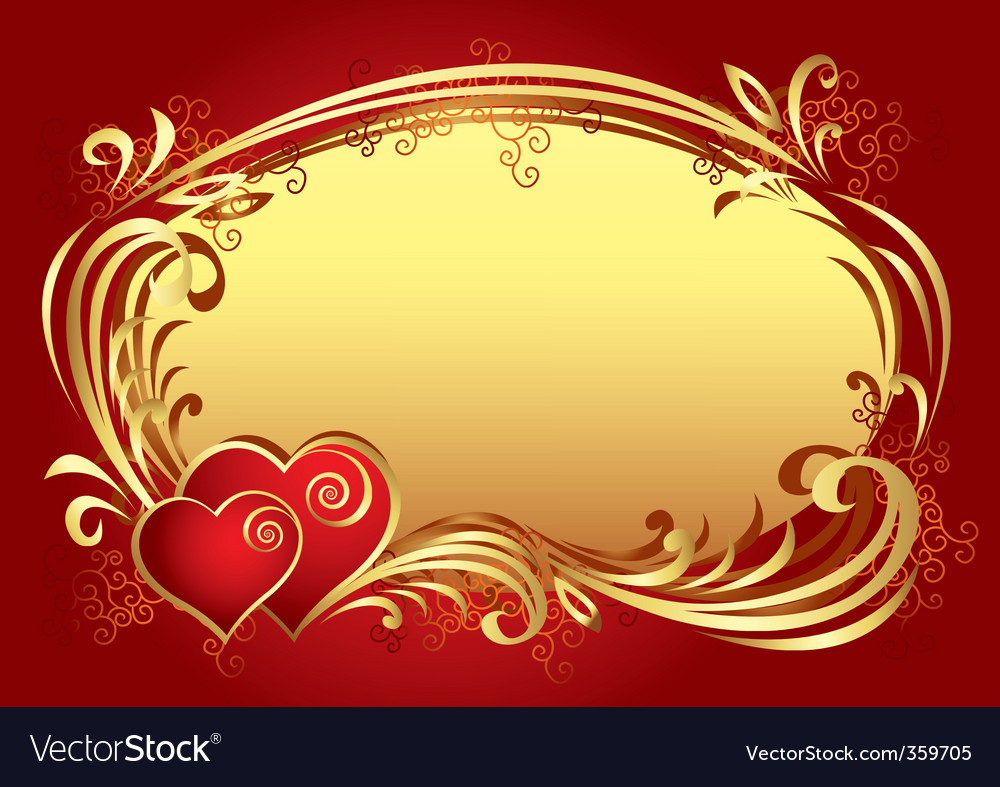 Valentine frame background v vector | Price: 1 Credit (USD $1)