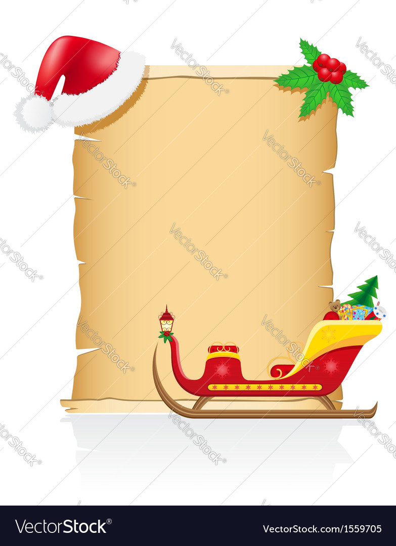 Vintage christmas blank scroll 03 vector | Price: 1 Credit (USD $1)