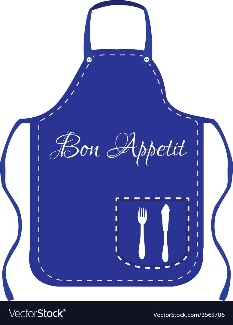 Blue apron vector   Price: 1 Credit (USD $1)