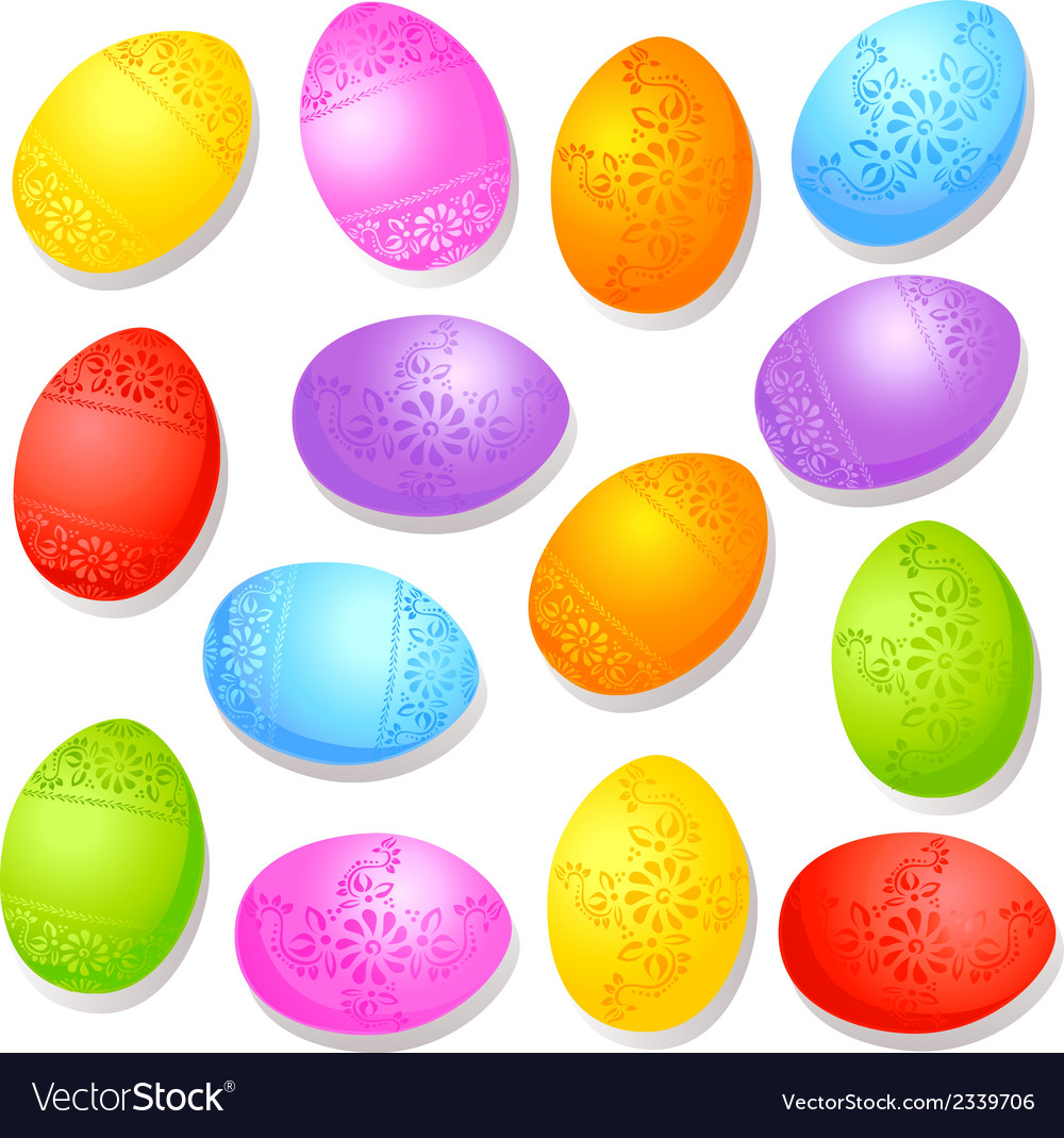 Colorful decorative easter eggs vector | Price: 1 Credit (USD $1)
