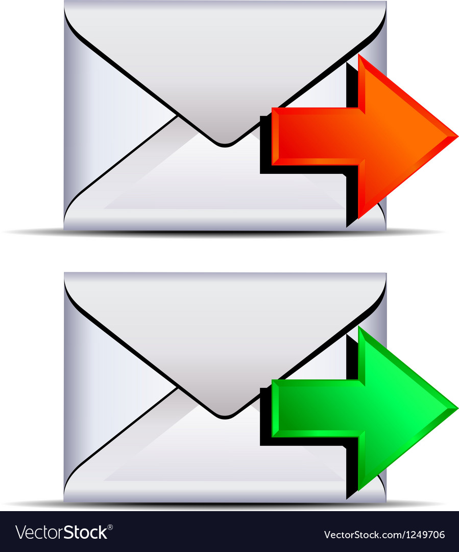 Contact email send icon vector | Price: 1 Credit (USD $1)