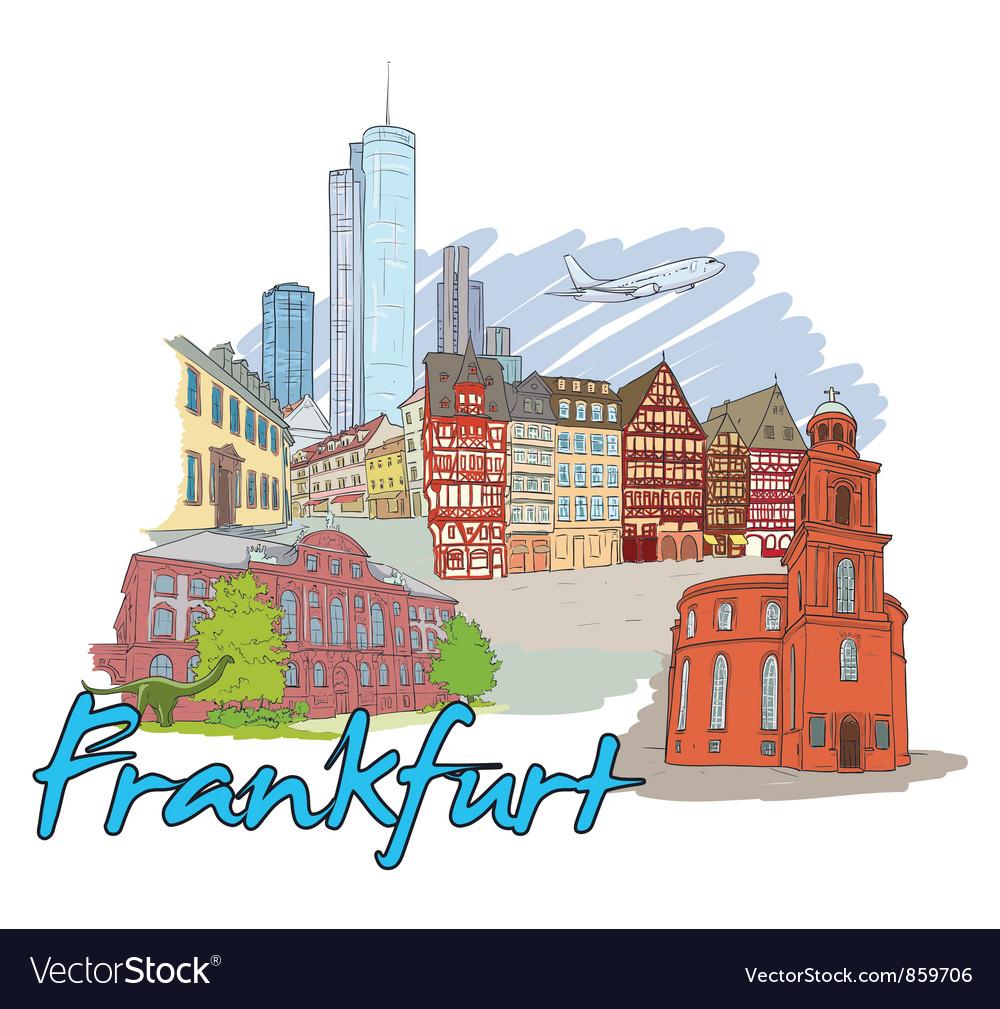 Frankfurt doodles vector | Price: 3 Credit (USD $3)