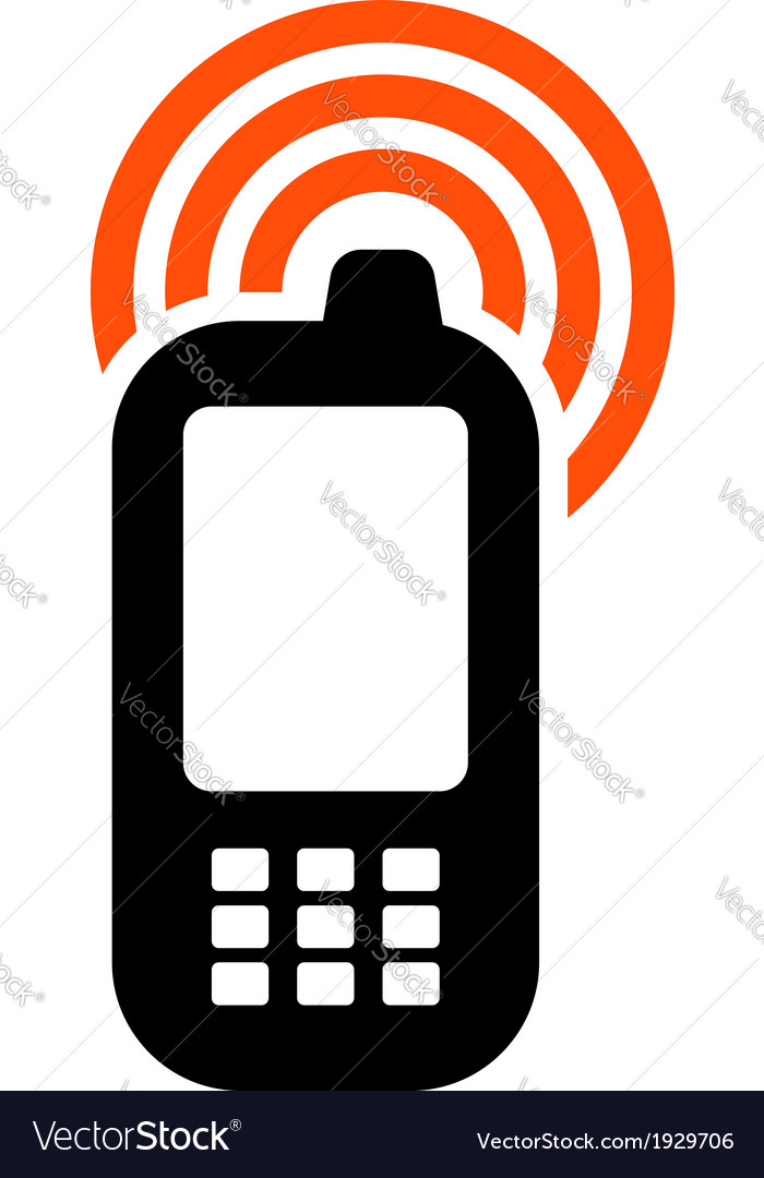 Mobile phone icon vector | Price: 1 Credit (USD $1)
