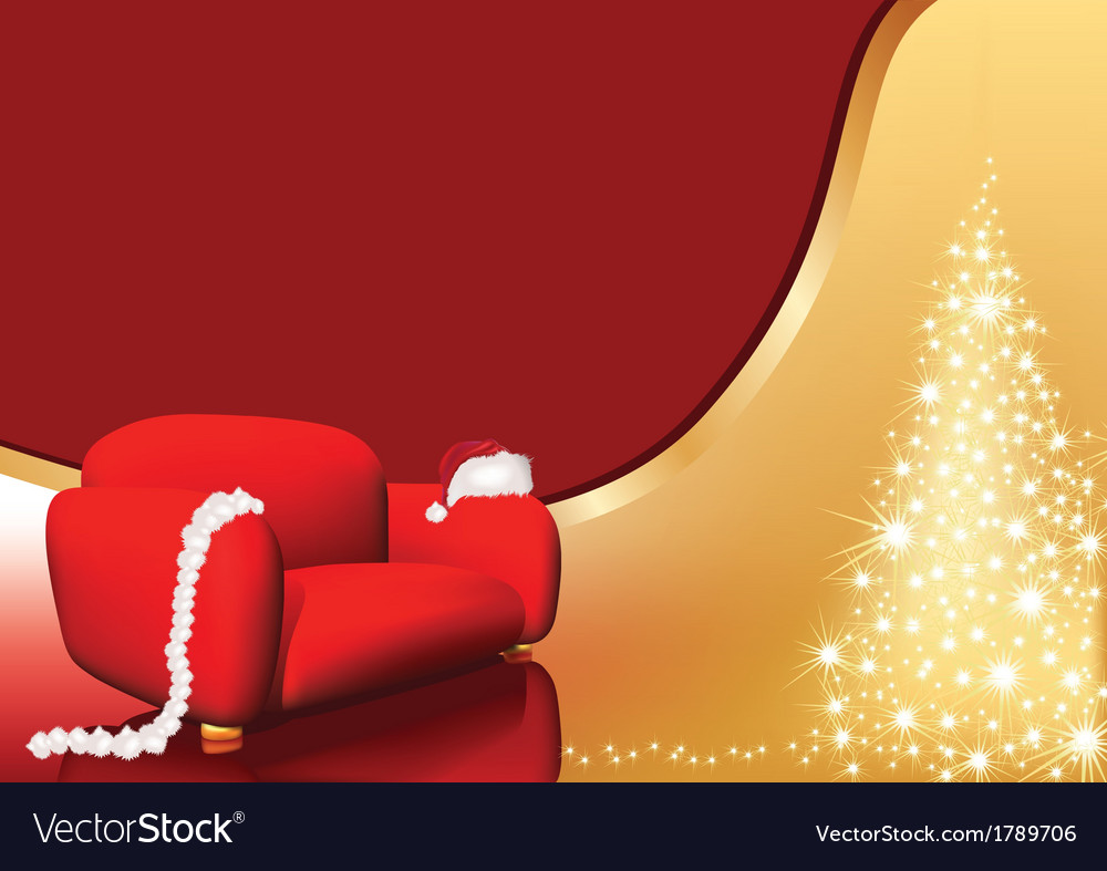 Red chair christmas vector | Price: 1 Credit (USD $1)