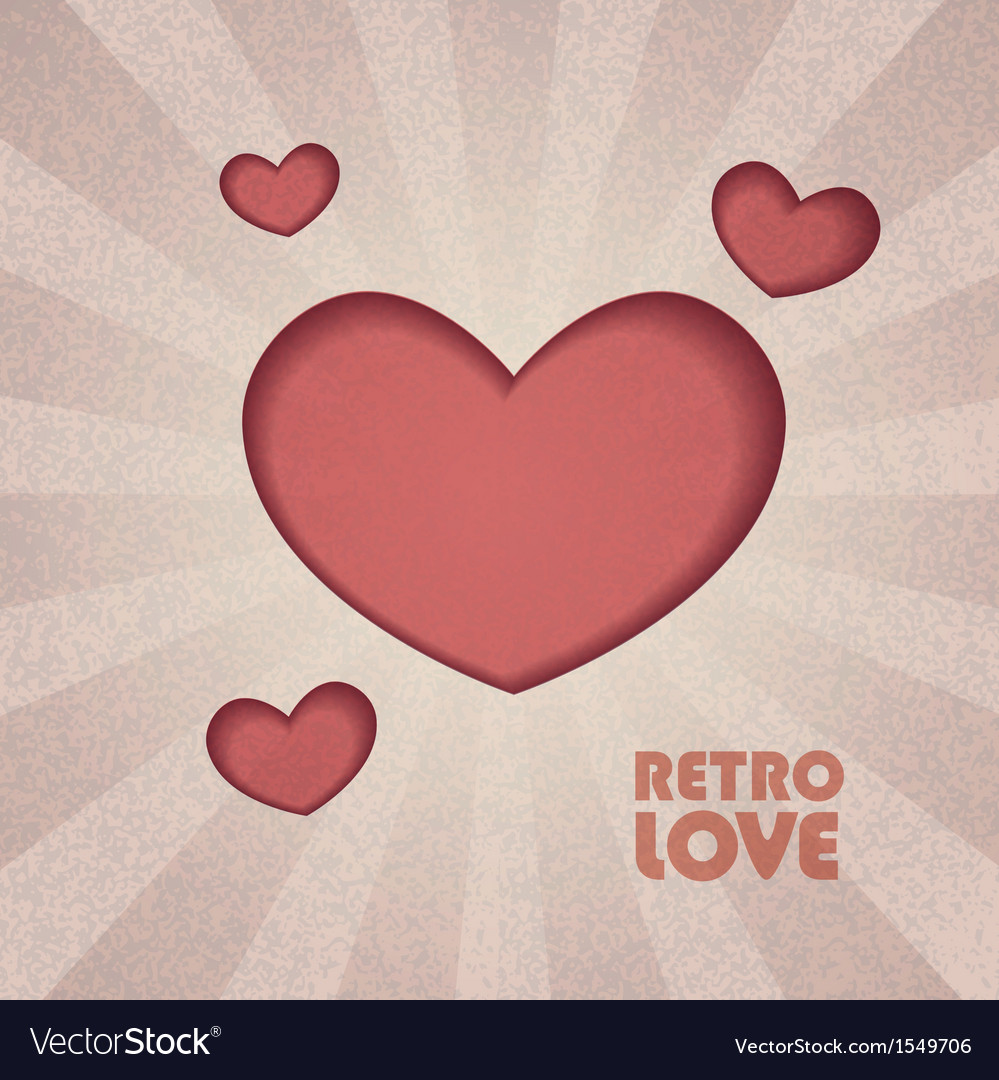 Retro valentine heart vector | Price: 1 Credit (USD $1)