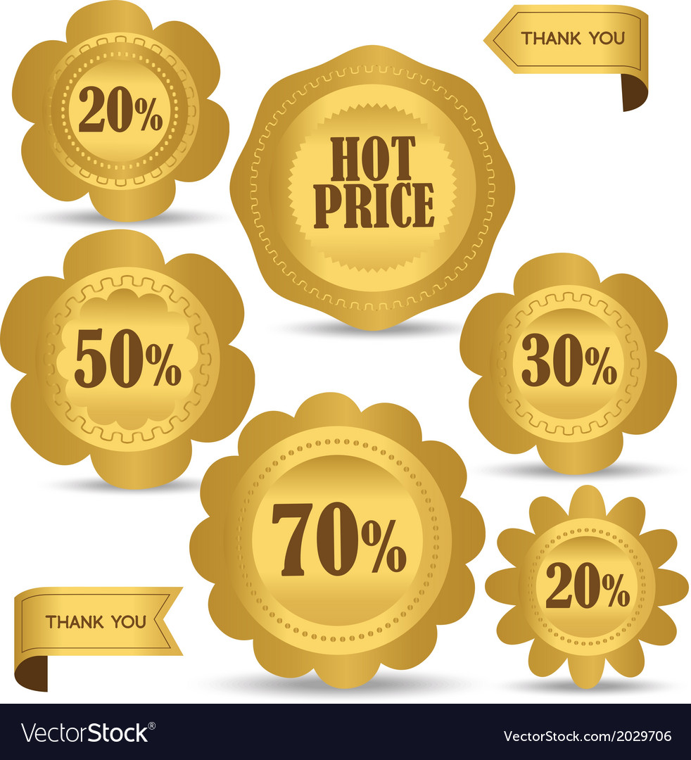 Set luxury labels and ribbons for sale vector | Price: 1 Credit (USD $1)