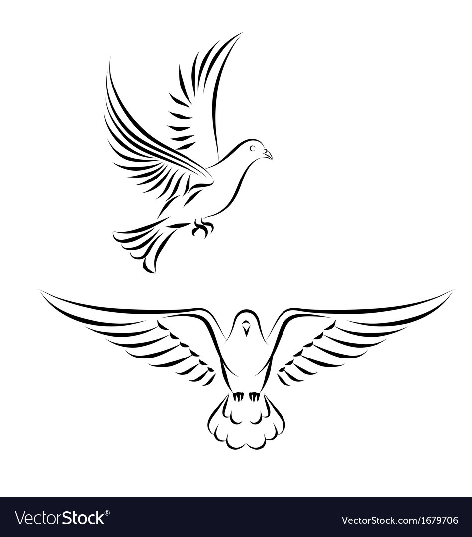 Stylized dove vector | Price: 1 Credit (USD $1)
