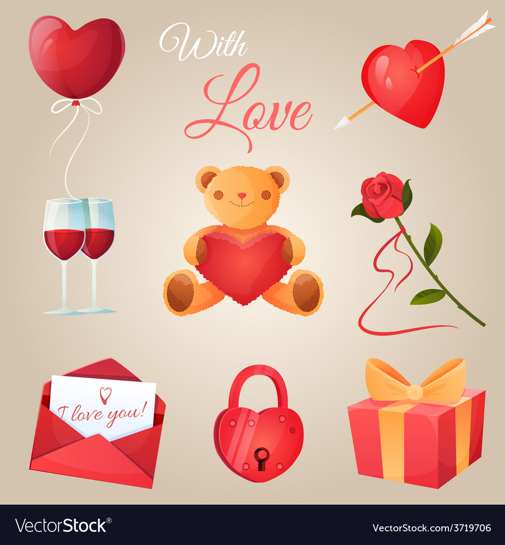 Valentines day icons set vector   Price: 1 Credit (USD $1)