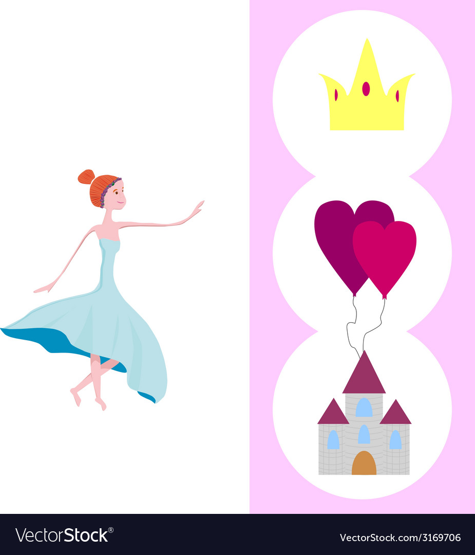Wishes to princess vector | Price: 1 Credit (USD $1)