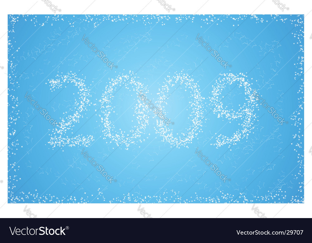 Blue new year card with inscription vector   Price: 1 Credit (USD $1)