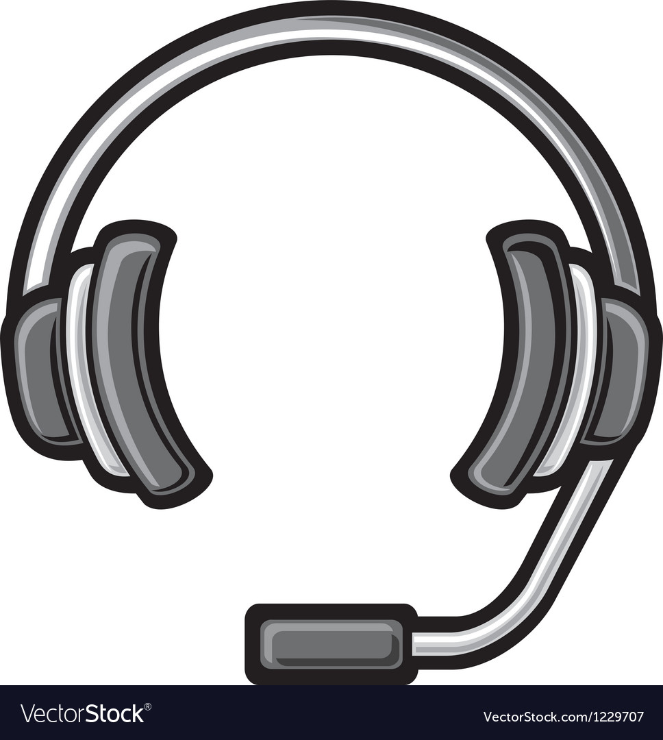 Call center headset vector | Price: 1 Credit (USD $1)