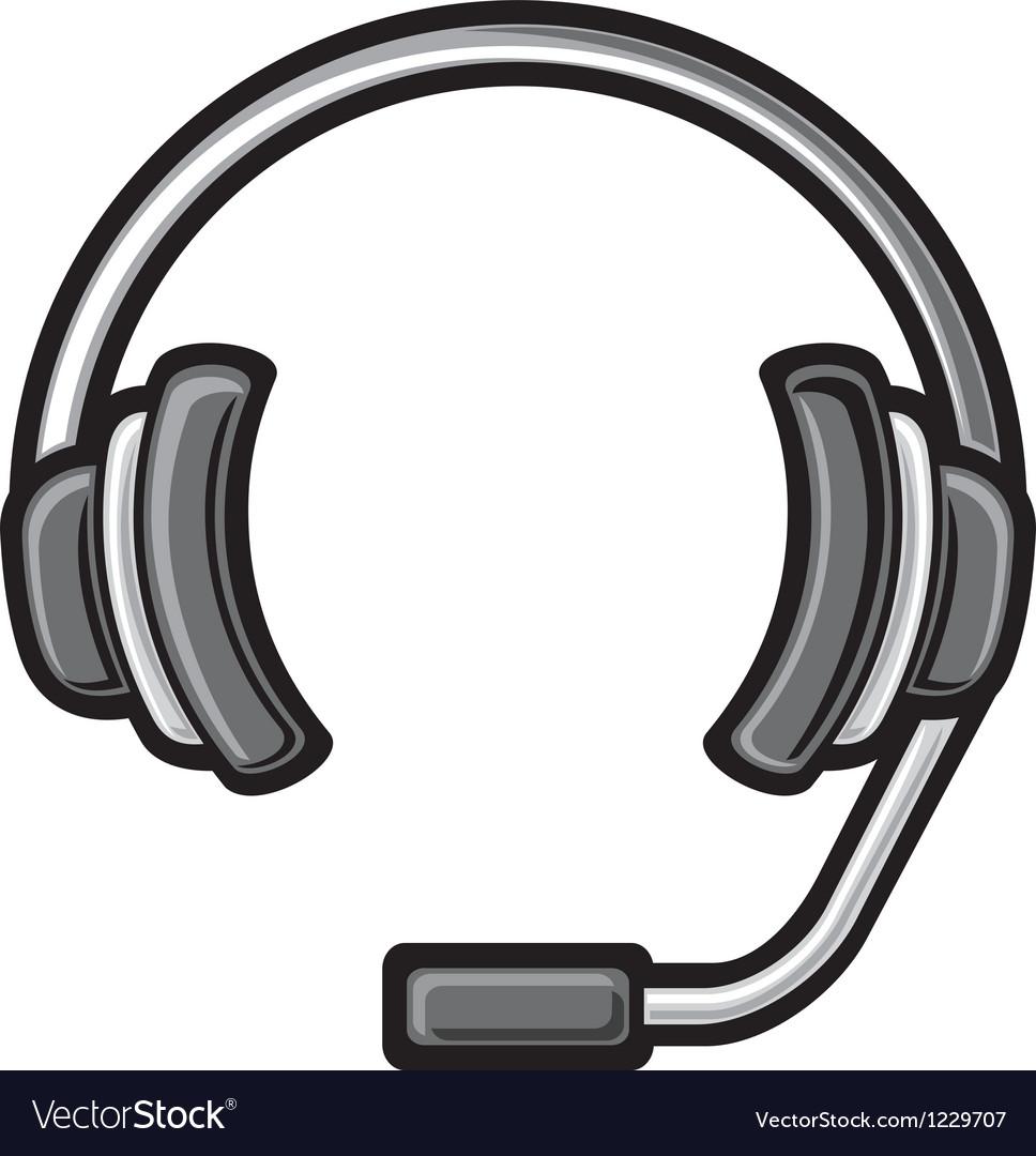 Call center headset vector