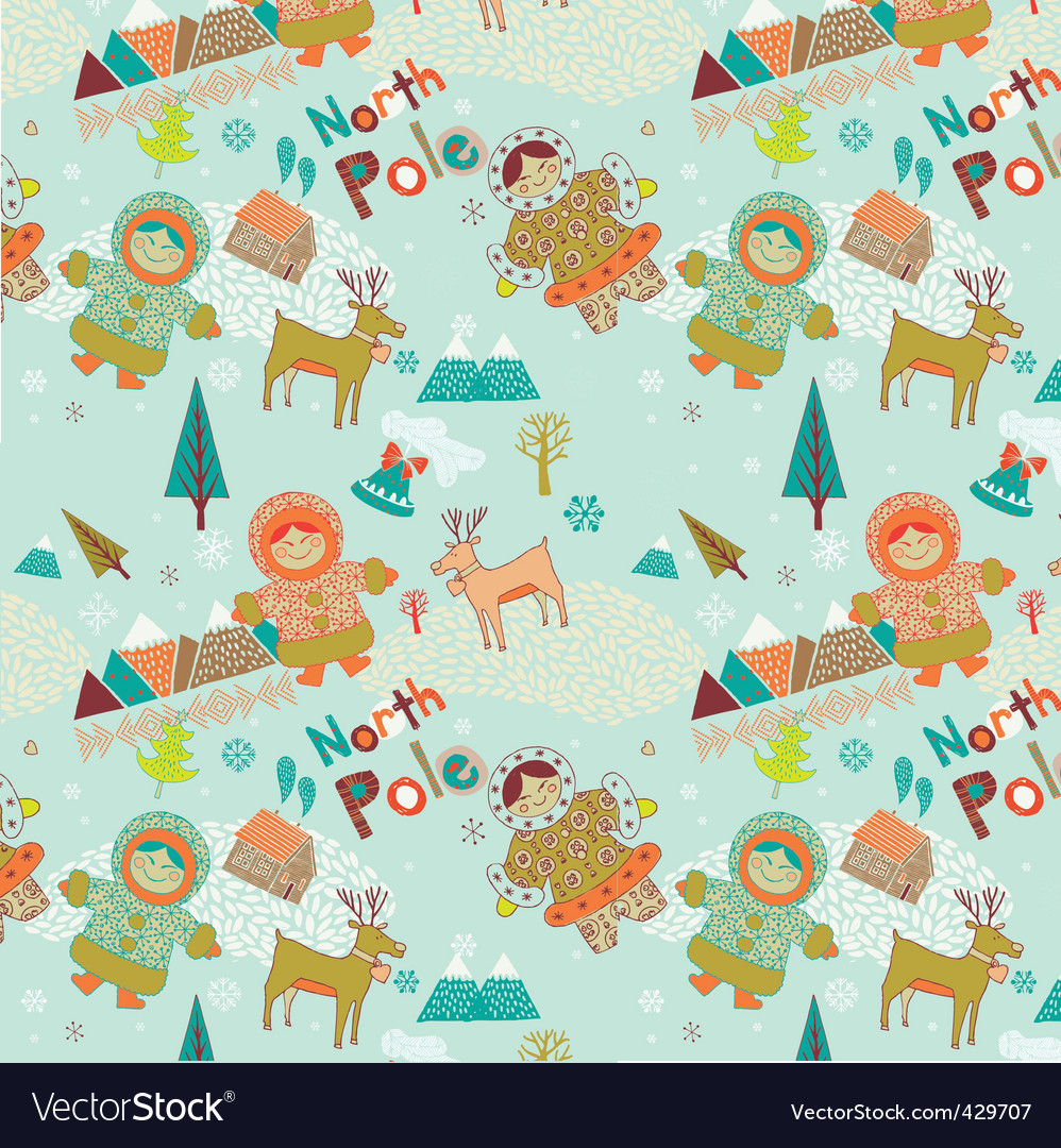 Cartoon christmas scene vector | Price: 1 Credit (USD $1)