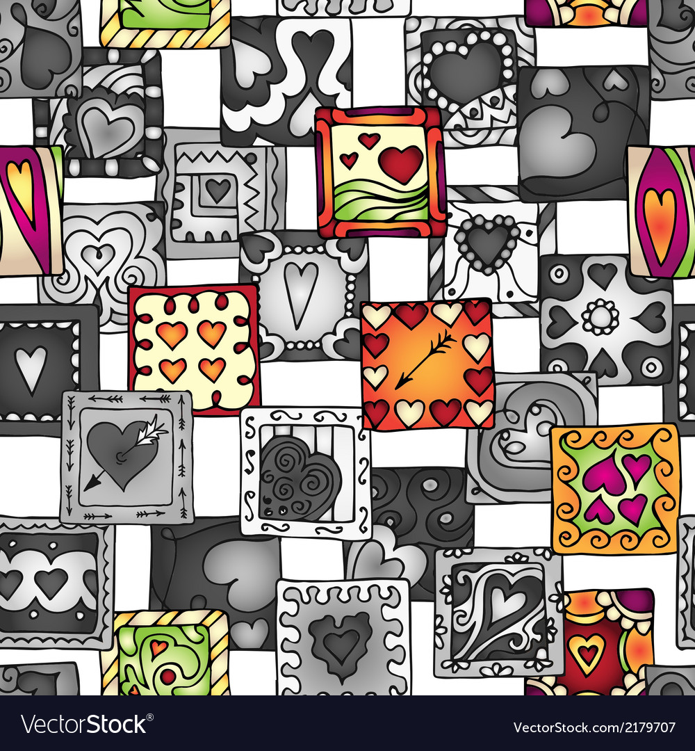 Collection of original drawing doodle hearts vector | Price: 1 Credit (USD $1)