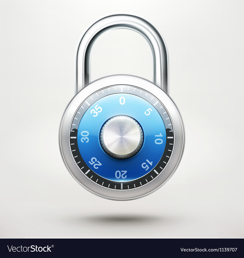 Combination pad lock vector | Price: 1 Credit (USD $1)