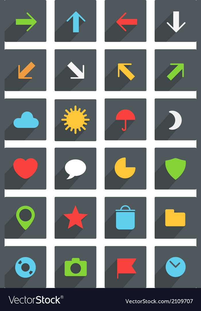 Modern thin web icons collection vector | Price: 1 Credit (USD $1)