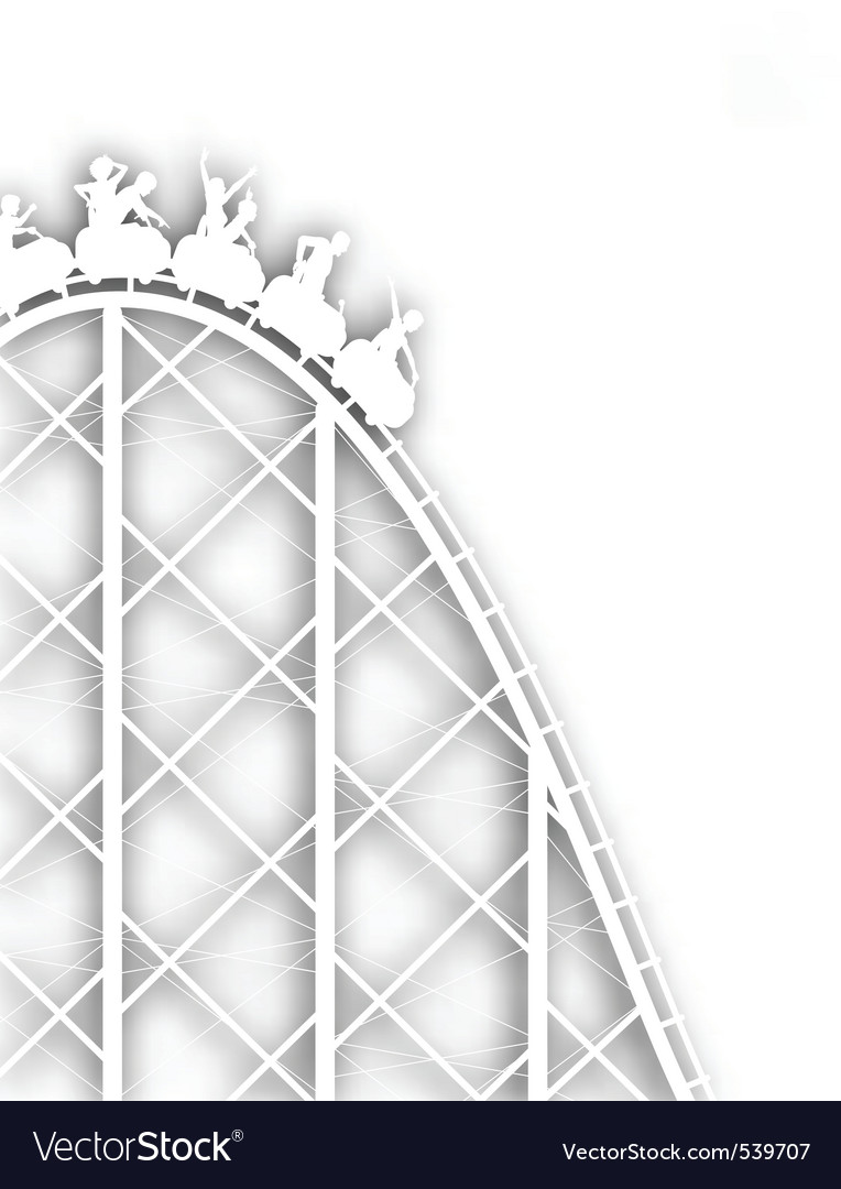 Rollercoaster cutout vector | Price: 1 Credit (USD $1)