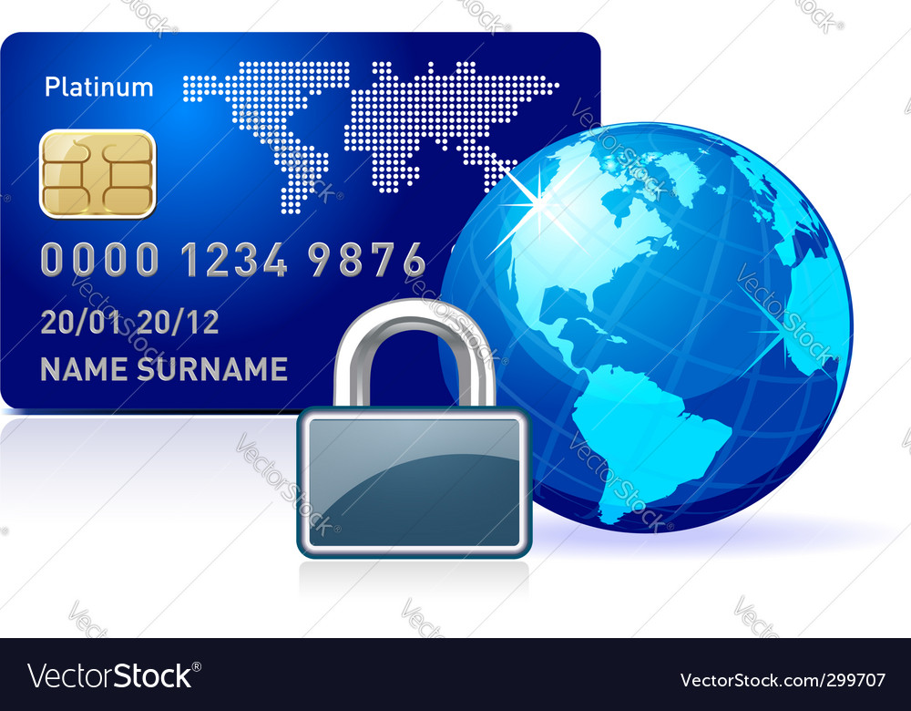 Secure online payment vector | Price: 1 Credit (USD $1)