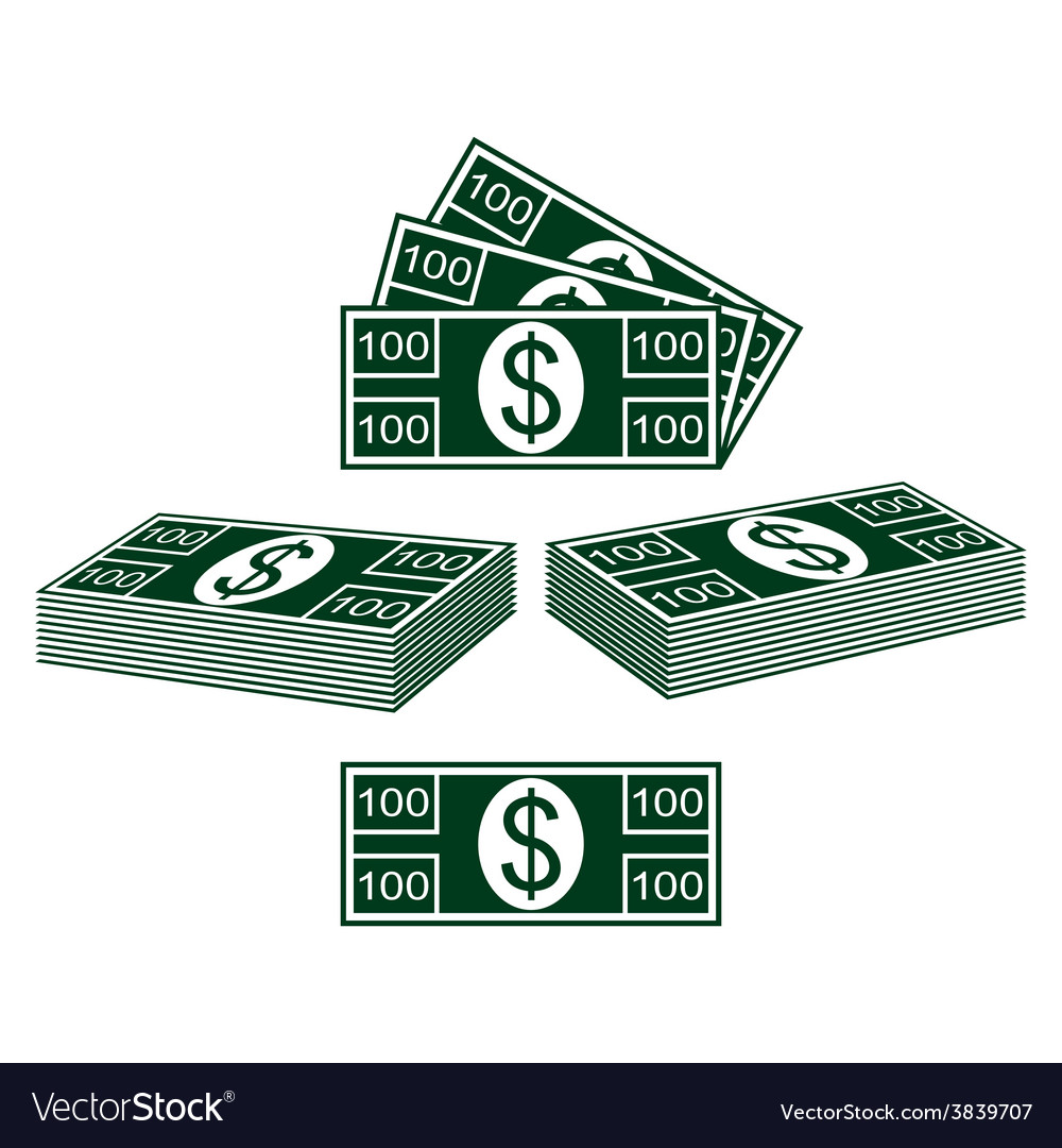 Set of dollars vector | Price: 1 Credit (USD $1)